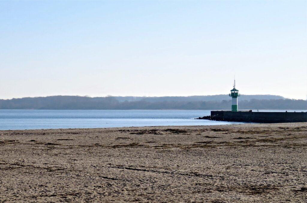 beach, lighthouse, sand
